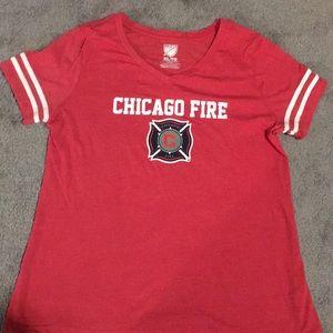 Chicago Fire vneck t